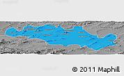 Political Panoramic Map of Oum El Bouaghi, desaturated