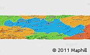 Political Panoramic Map of Oum El Bouaghi