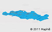Political Panoramic Map of Oum El Bouaghi, single color outside