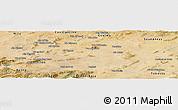 Satellite Panoramic Map of Oum El Bouaghi