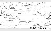 Blank Simple Map of Oum El Bouaghi