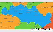 Political Simple Map of Oum El Bouaghi