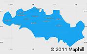 Political Simple Map of Oum El Bouaghi, single color outside
