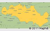 Savanna Style Simple Map of Oum El Bouaghi