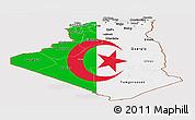Flag Panoramic Map of Algeria