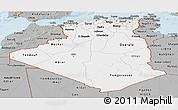 Gray Panoramic Map of Algeria