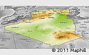 Physical Panoramic Map of Algeria, desaturated