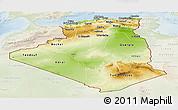 Physical Panoramic Map of Algeria, lighten