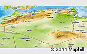 Physical Panoramic Map of Algeria