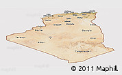 Satellite Panoramic Map of Algeria, cropped outside