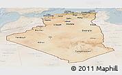 Satellite Panoramic Map of Algeria, lighten