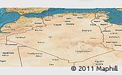 Satellite Panoramic Map of Algeria