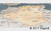 Satellite Panoramic Map of Algeria, semi-desaturated