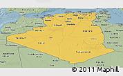 Savanna Style Panoramic Map of Algeria