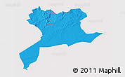 Political 3D Map of Saida, cropped outside