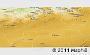 Physical Panoramic Map of Saida
