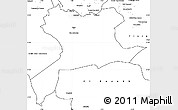 Blank Simple Map of Saida