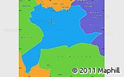 Political Simple Map of Saida