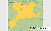 Savanna Style Simple Map of Saida