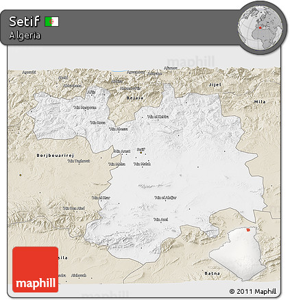 Free Classic Style D Map Of Setif - Setif map