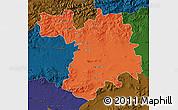 Political Map of Setif, darken
