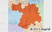 Political Map of Setif, lighten