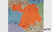 Political Map of Setif, semi-desaturated