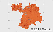 Political Map of Setif, single color outside