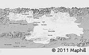 Gray Panoramic Map of Setif