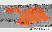 Political Panoramic Map of Setif, desaturated
