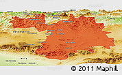 Political Panoramic Map of Setif, physical outside