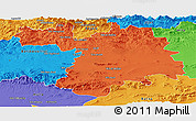Political Panoramic Map of Setif