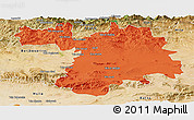 Political Panoramic Map of Setif, satellite outside
