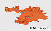 Political Panoramic Map of Setif, single color outside