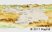 Shaded Relief Panoramic Map of Setif, physical outside