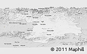 Silver Style Panoramic Map of Setif