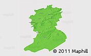 Political 3D Map of Sidi-Bel-Abbes, single color outside