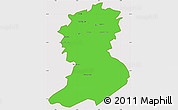 Political Simple Map of Sidi-Bel-Abbes, cropped outside