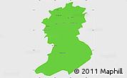 Political Simple Map of Sidi-Bel-Abbes, single color outside