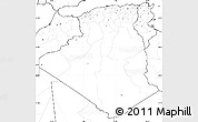 Blank Simple Map of Algeria, no labels
