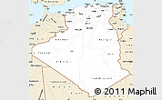 Classic Style Simple Map of Algeria