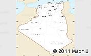 Classic Style Simple Map of Algeria, single color outside