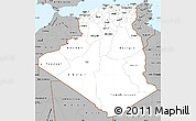 Gray Simple Map of Algeria