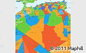 Political Simple Map of Algeria