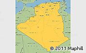 Savanna Style Simple Map of Algeria