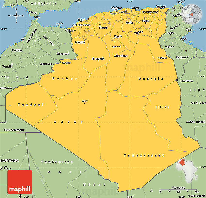 Savanna Style Simple Map of Algeria on map of yemen, map of middle east, map of mali, map of syria, map of laos, map of algiers, map lebanon, map of sudan, map of gibraltar, map of bahrain, map of angola, map of iraq, map of europe, map of tunisia, map of switzerland, map of africa, map of central america, map of great britain, map of libya, map of morocco,