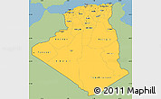 Savanna Style Simple Map of Algeria, single color outside