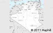 Silver Style Simple Map of Algeria