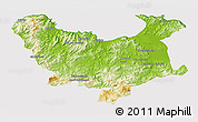 Physical 3D Map of Skikda, cropped outside
