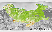 Physical 3D Map of Skikda, desaturated